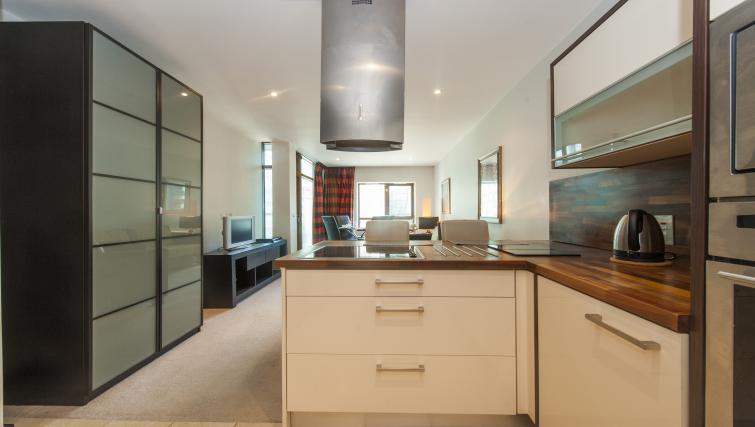 Kitchen area at the One Beacon Apartment - Citybase Apartments