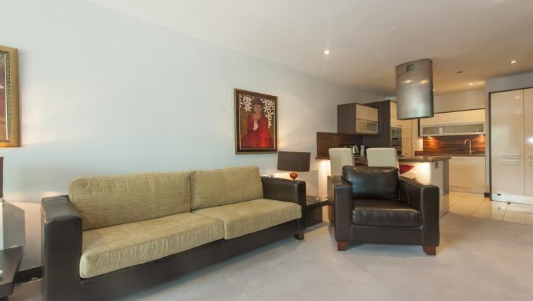 Lounge at the One Beacon Apartment - Citybase Apartments