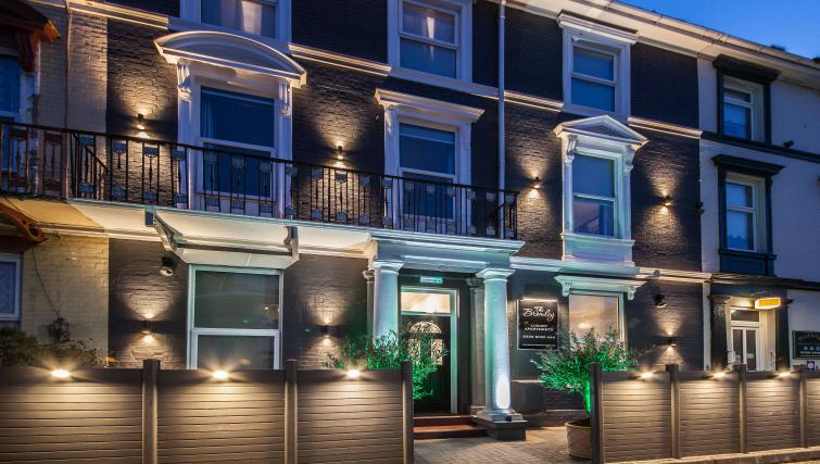 Night exterior at The Bromley Apartments - Citybase Apartments