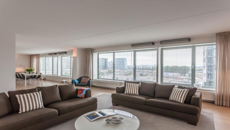 Living area at La Fenêtre Apartments - Citybase Apartments