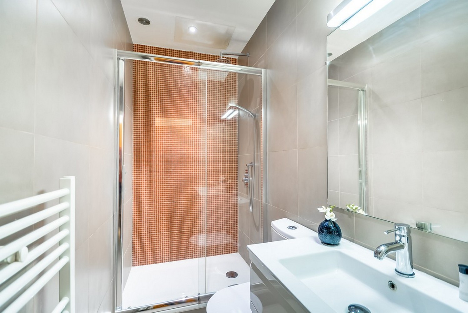 Shower at Enghien Apartments - Citybase Apartments