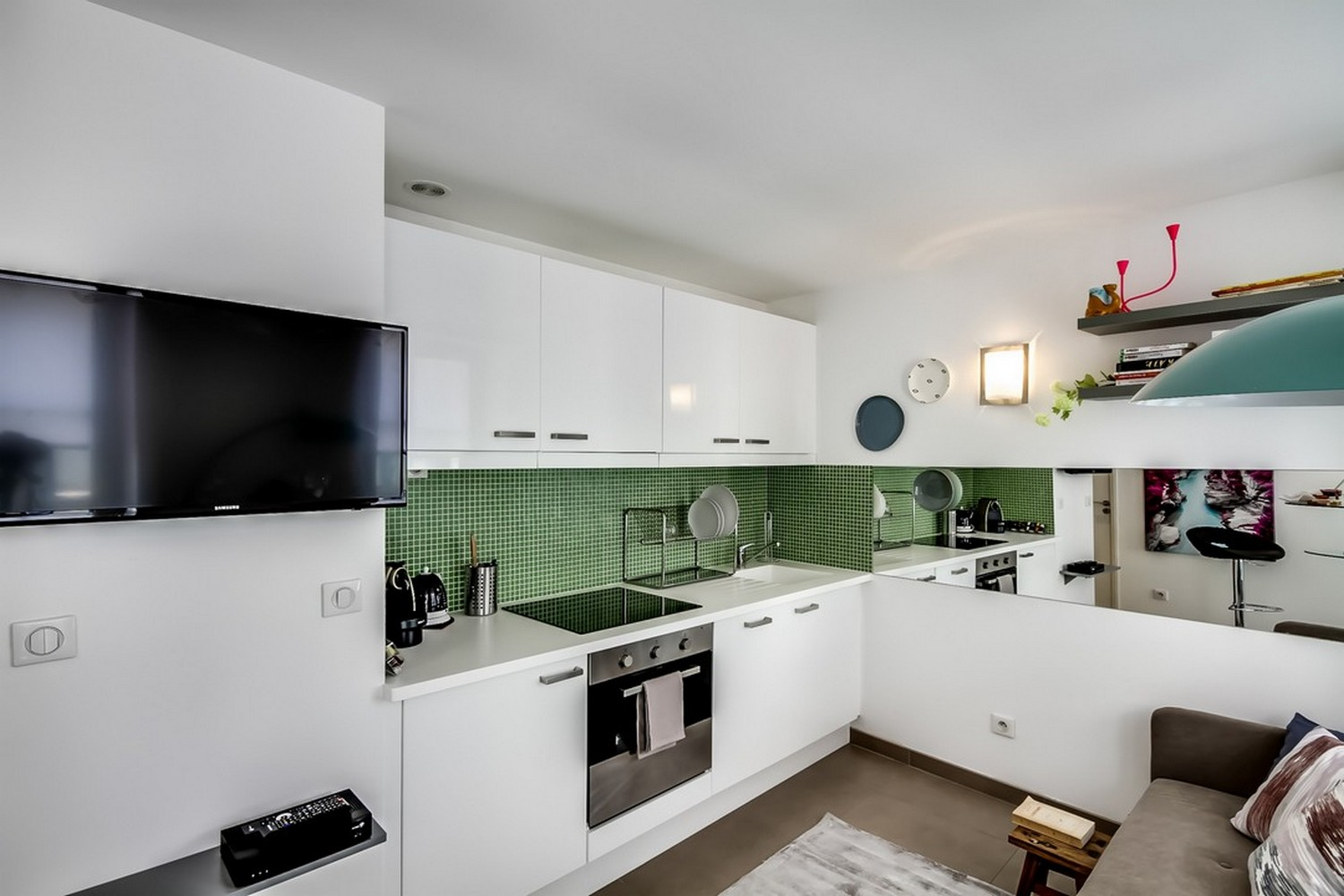 Modern kitchen facilities at Enghien Apartments - Citybase Apartments