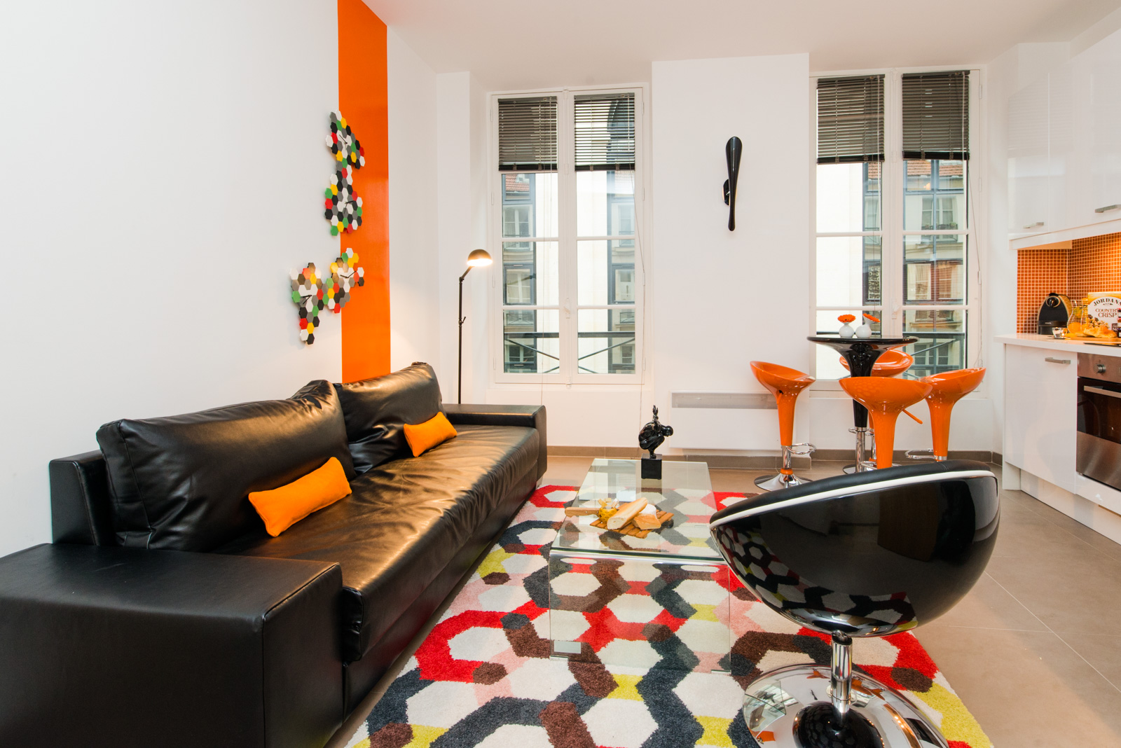 Living room at Enghien Apartments - Citybase Apartments