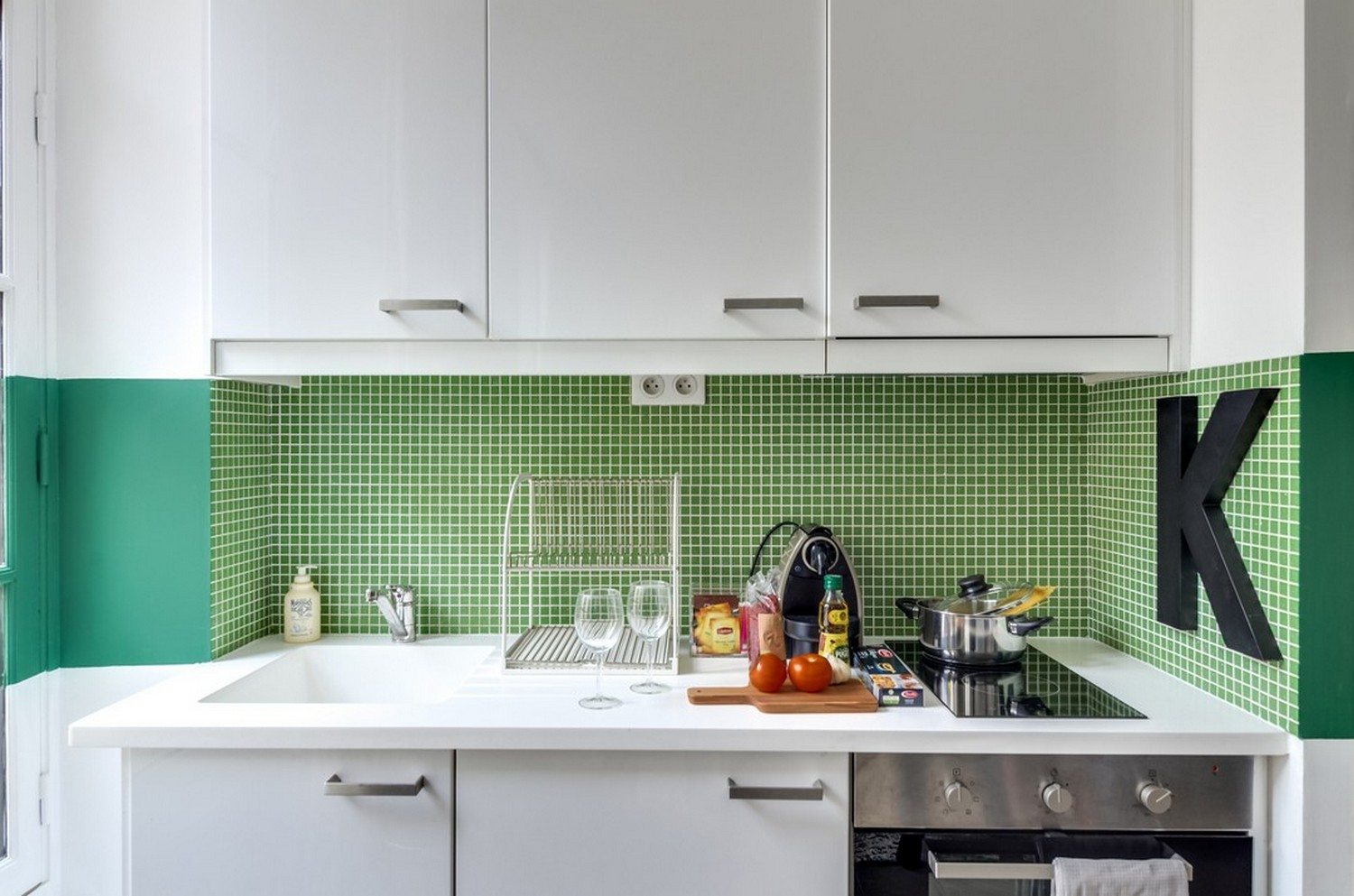 Kitchen facilities at Enghien Apartments - Citybase Apartments