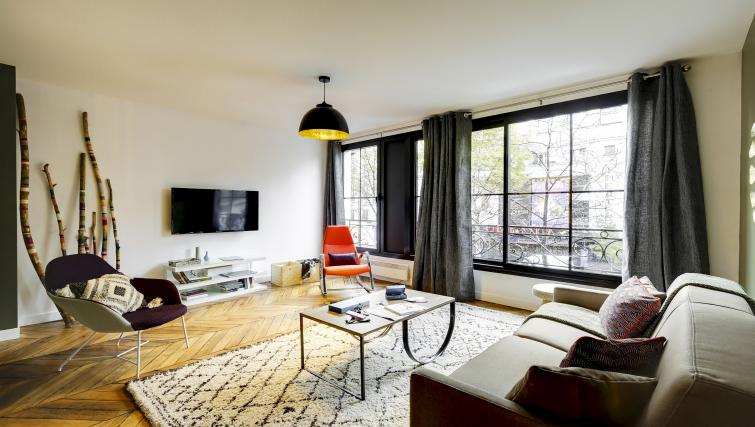 Living room at the Strasbourg Apartments - Citybase Apartments
