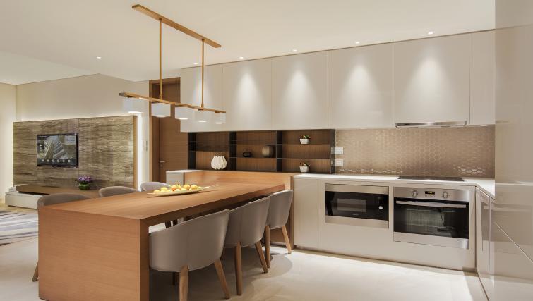 Kitchen at Al Bandar Arjaan Apartments - Citybase Apartments