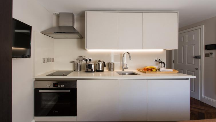Kitchen facilities at the Flying Butler Baker Street Apartments - Citybase Apartments