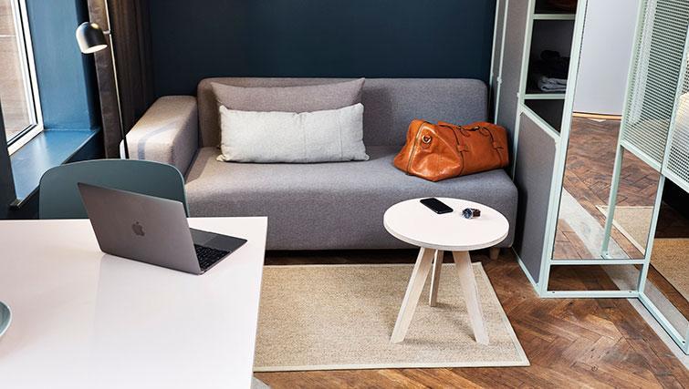 Sofa area at The Flint Studios - Citybase Apartments
