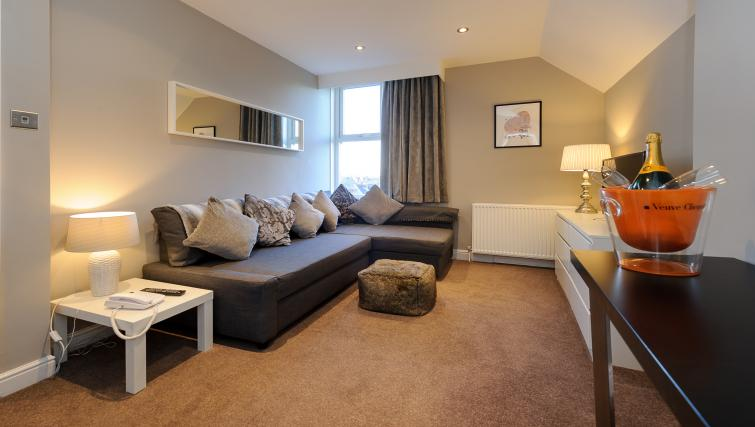 Corner sofa at Lennox Lea Studios & Apartments - Citybase Apartments