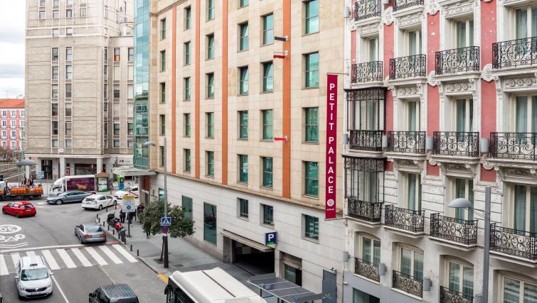 Exterior at the Gran Via - San Bernardo Apartment - Citybase Apartments