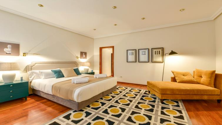 Bedroom at the Gran Via - San Bernardo Apartment - Citybase Apartments