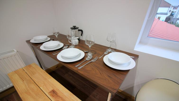 Dining area at the Peymans Saint Luke's Apartments - Citybase Apartments