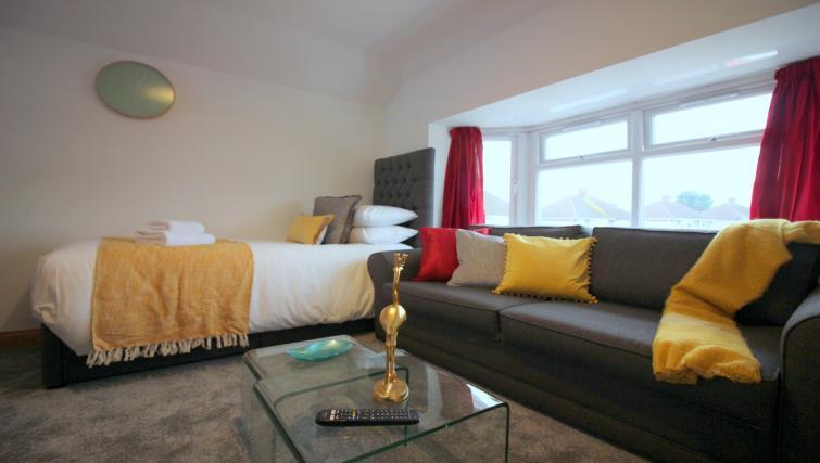 Sleek living area at the Peymans Saint Luke's Apartments - Citybase Apartments