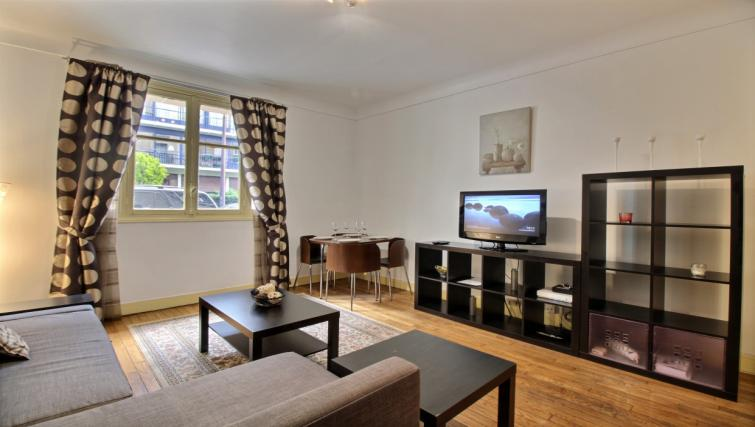 Spacious living area at Gris Civry Apartment - Citybase Apartments