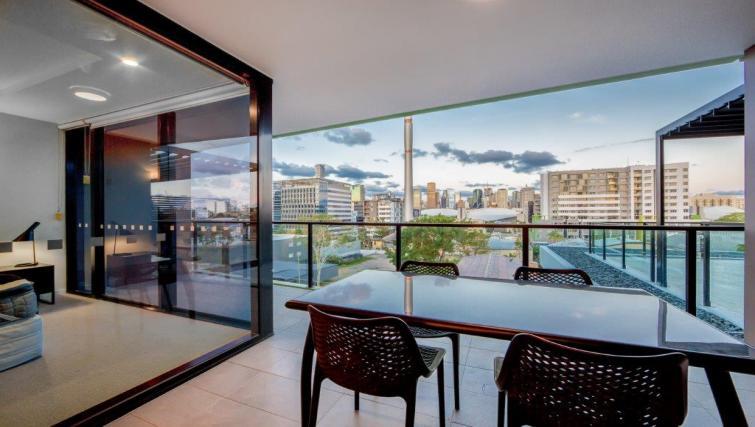 Balcony at Astra Arena Brisbane Apartments - Citybase Apartments