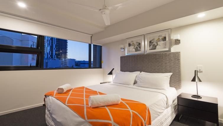 Large bedroom at Astra Arena Brisbane Apartments - Citybase Apartments