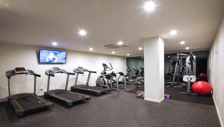 Gym at Astra Arena Brisbane Apartments - Citybase Apartments