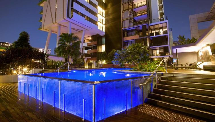 Pool area at Astra Arena Brisbane Apartments - Citybase Apartments