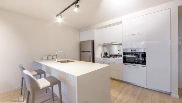 Kitchen at Astra Arena Brisbane Apartments - Citybase Apartments