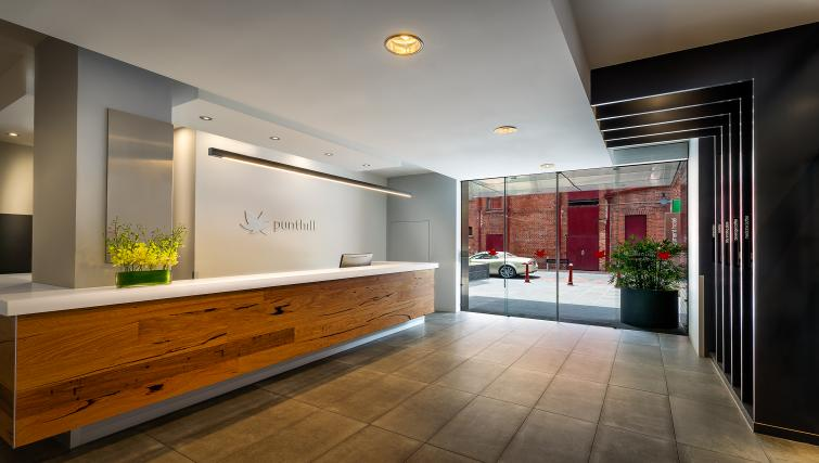 Reception at Little Bourke Apartments - Citybase Apartments
