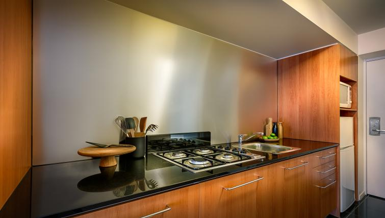 Kitchen at Little Bourke Apartments - Citybase Apartments