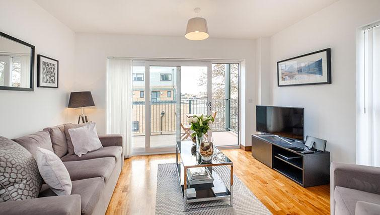 Bright living area at Grand Central Duplex Apartment - Citybase Apartments