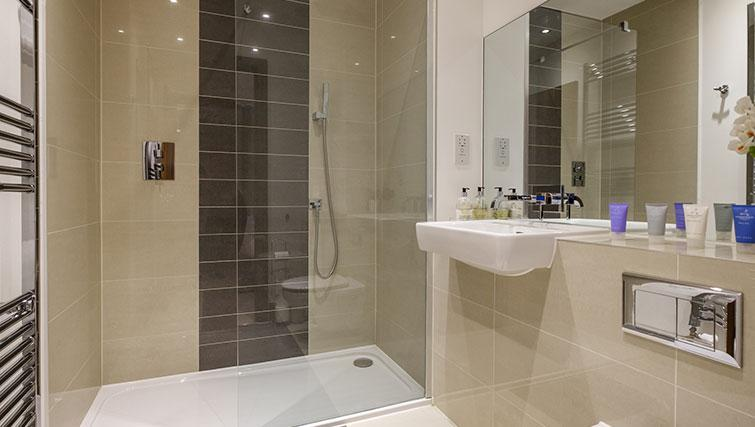 Bathroom at the Flamsteed Duplex Apartment - Citybase Apartments