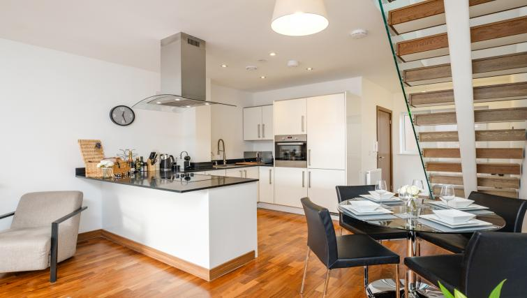 Kitchen at the Flamsteed Duplex Apartment - Citybase Apartments