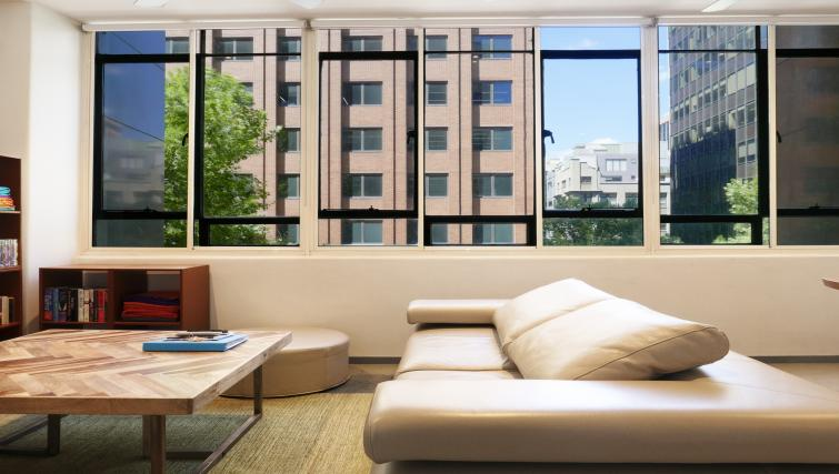 Living area at Honey Apartments - Citybase Apartments