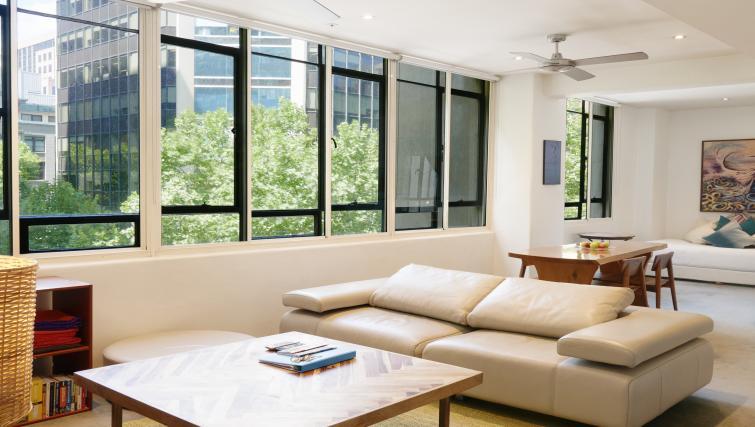 Sofa at Honey Apartments - Citybase Apartments