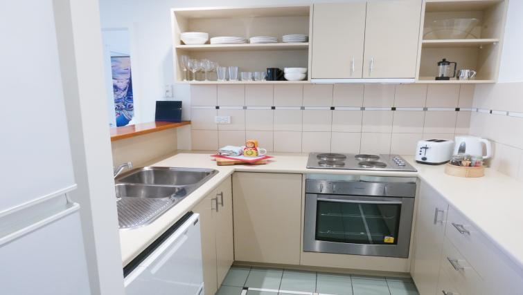 Kitchen at Honey Apartments - Citybase Apartments