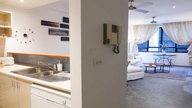 Hallway at Honey Apartments - Citybase Apartments