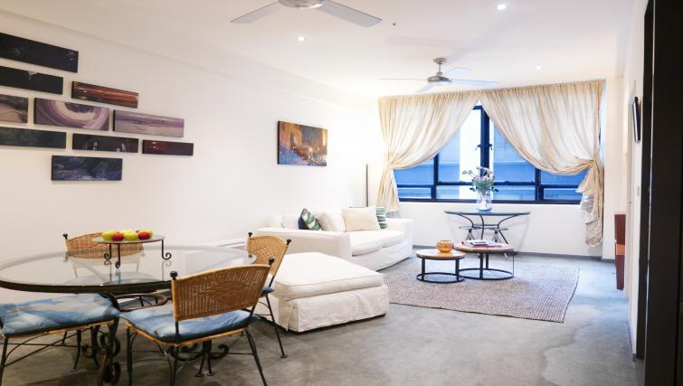 Open-plan area at Honey Apartments - Citybase Apartments