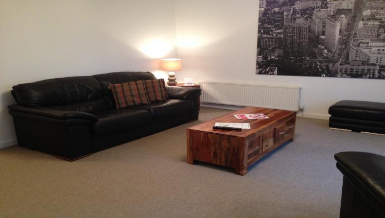 Living area at the Monart Apartment - Citybase Apartments