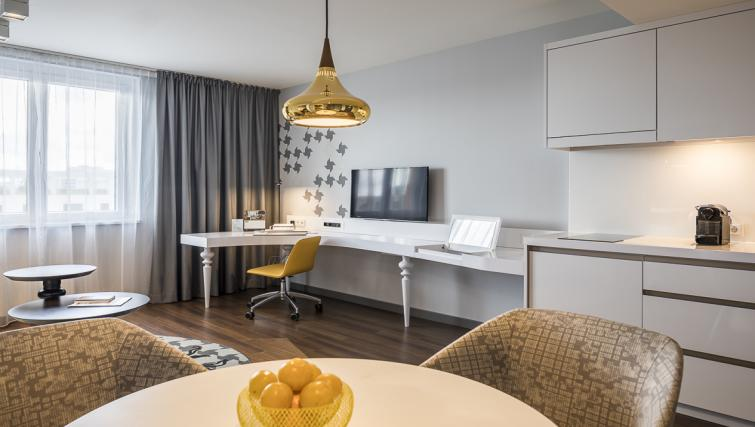 Living room at Europa-Allee Apartments - Citybase Apartments