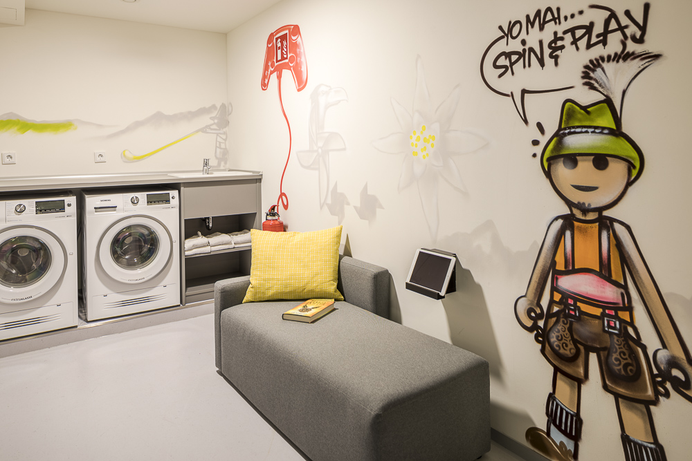 Laundry facilities at Europa-Allee Apartments, Westend Sud, Frankfurt - Citybase Apartments