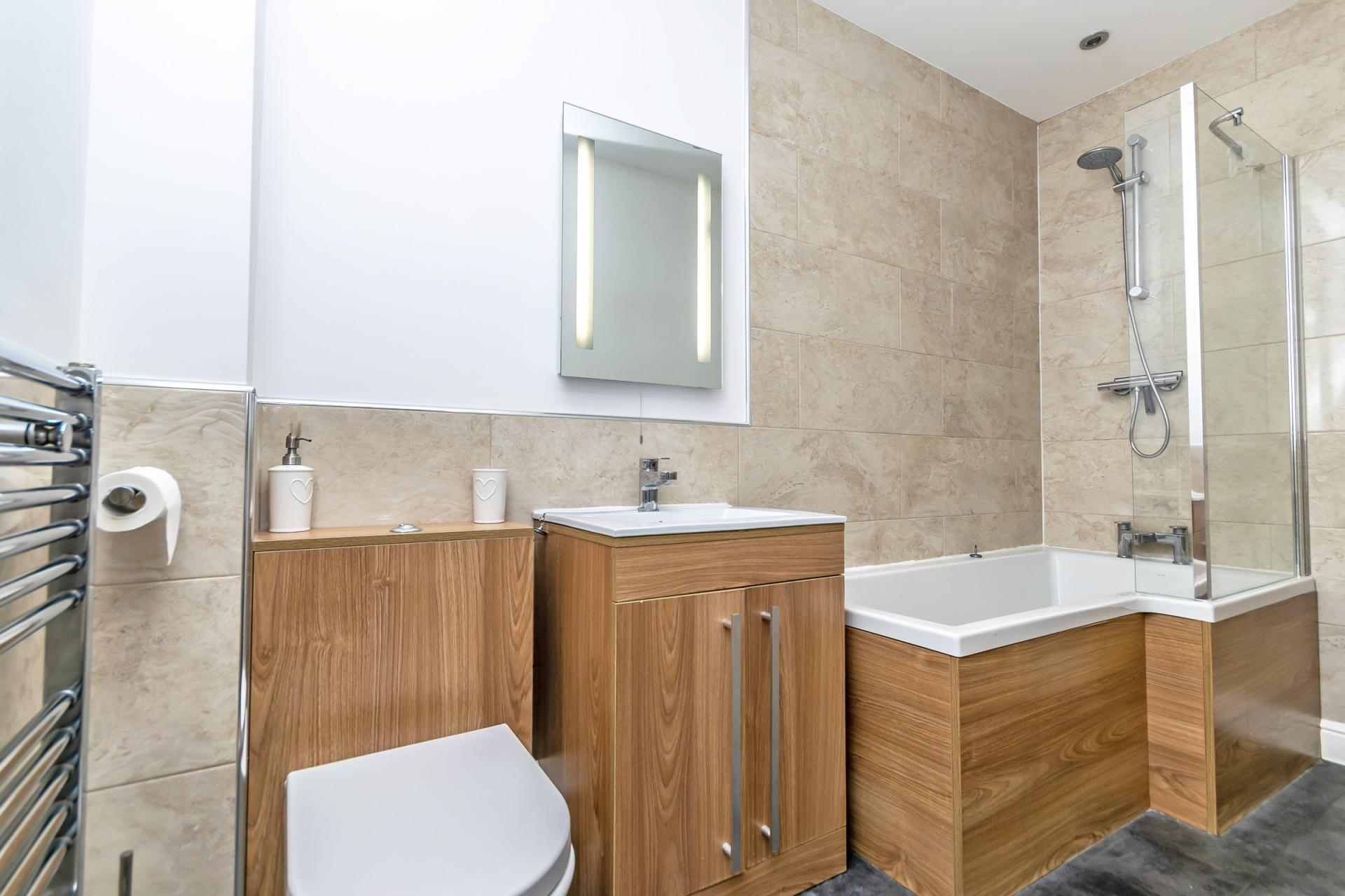 Bathroom at Tower View Apartment - Citybase Apartments