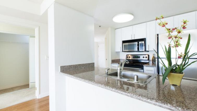 Kitchen at the Geary Courtyard Apartments - Citybase Apartments