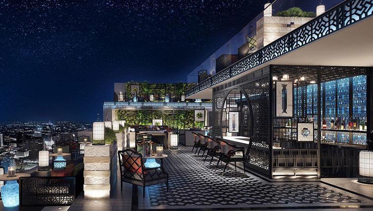 Rooftop bar at The Surawongse Apartments - Citybase Apartments