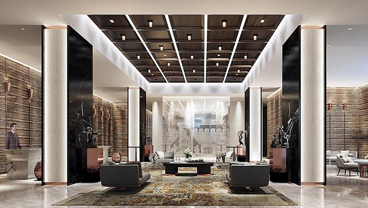 Lobby at The Surawongse Apartments - Citybase Apartments