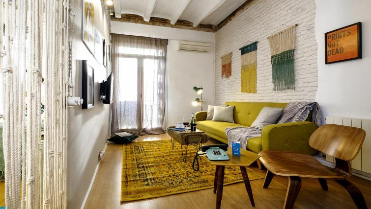 Living area at Poblenou Beach Apartment - Citybase Apartments