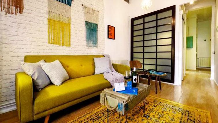 Sofa at Poblenou Beach Apartment - Citybase Apartments