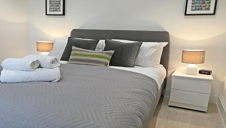 Stylish bedroom at Oxford Circus Apartments - Citybase Apartments