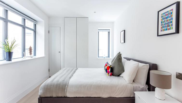Bright bedroom at Oxford Circus Apartments - Citybase Apartments