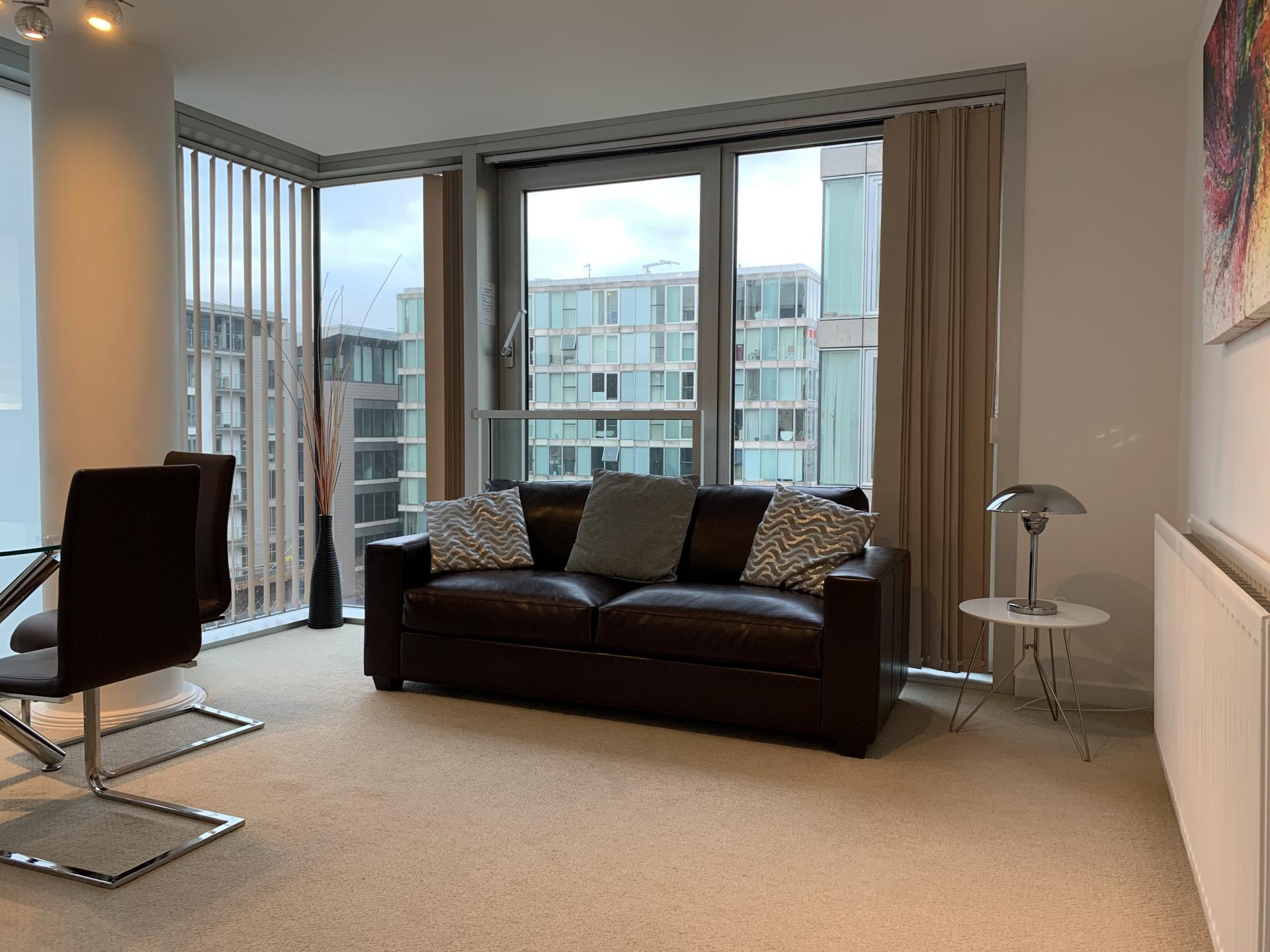 Living area at Cotels The Hub Apartments, Centre, Milton Keynes - Citybase Apartments