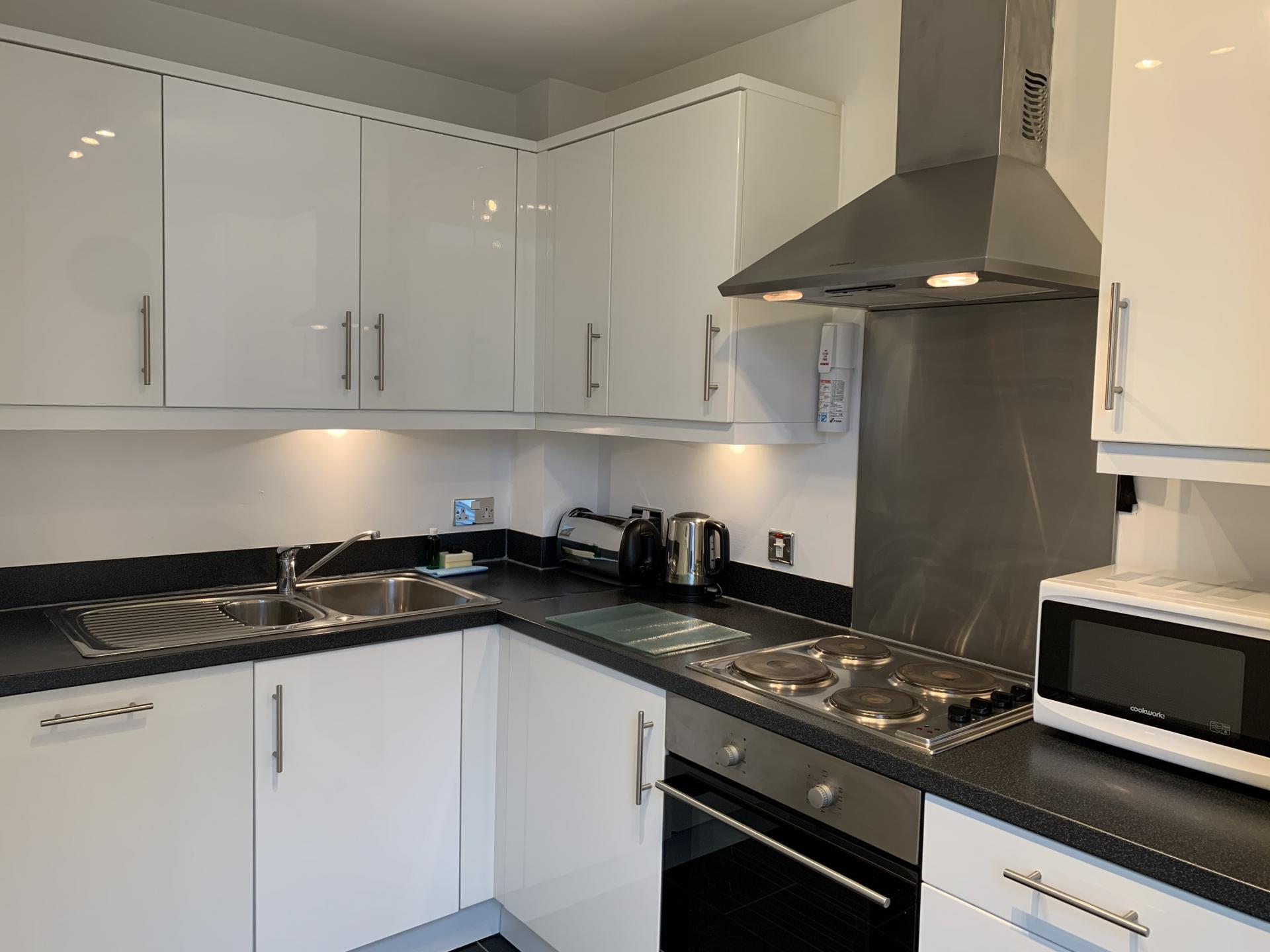 Kitchen at Cotels The Hub Apartments, Centre, Milton Keynes - Citybase Apartments