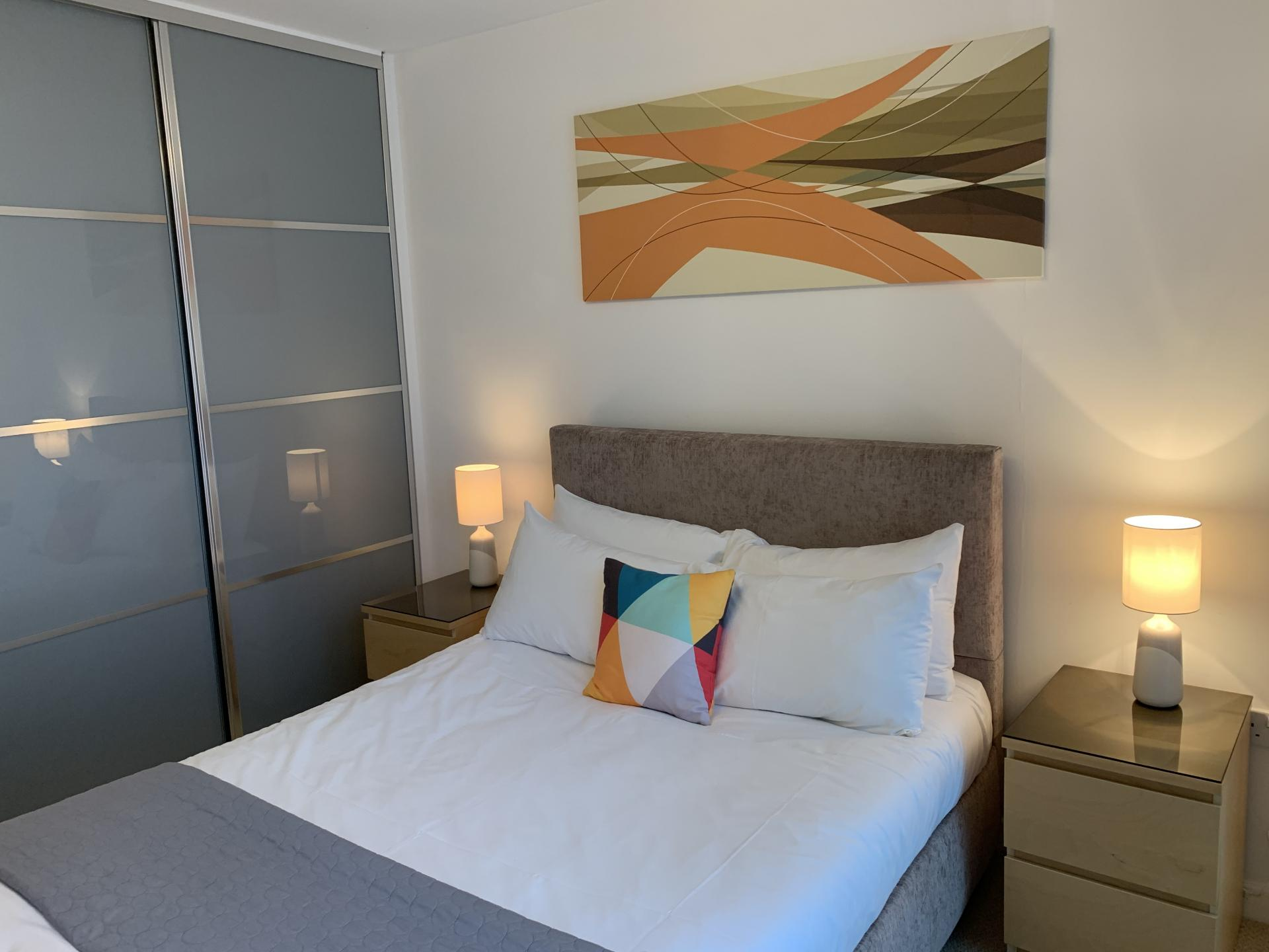 Bedroom at Cotels The Hub Apartments, Centre, Milton Keynes - Citybase Apartments