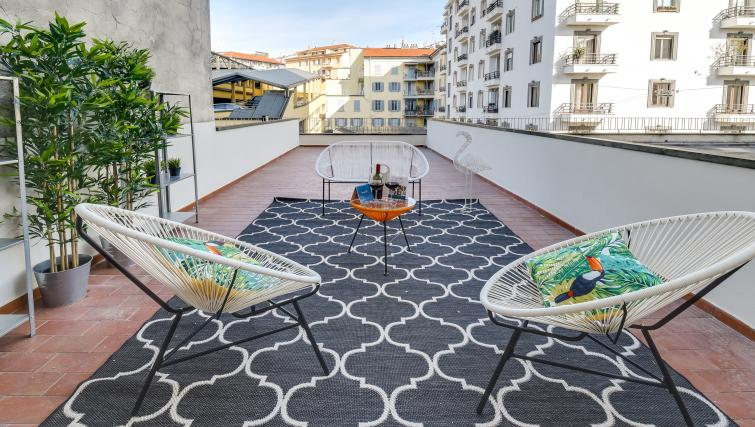 Terrace at the Ariberto Apartment - Citybase Apartments