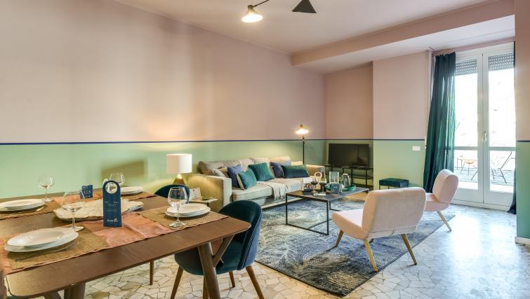 Lounge at the Ariberto Apartment - Citybase Apartments