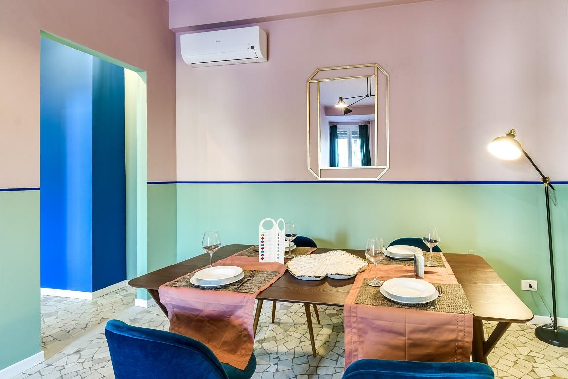 Dining table at  Ariberto Apartment - Citybase Apartments